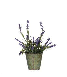 Floare artificiala in ghiveci - Lavanda H 23 cm